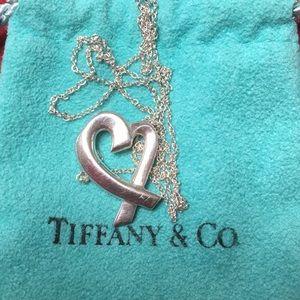Tiffany silver heart shape necklace